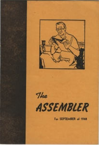 Front page of the Assembler newsletter, September 1948