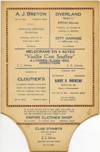 Program/fan (1923)